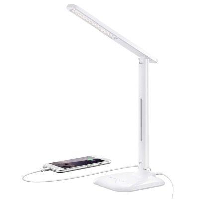 TOPELEK LED Schreibtischlampe 10W mit USB Anschluss und 5 Farbtemperaturen für 12,59€ (statt 21€)