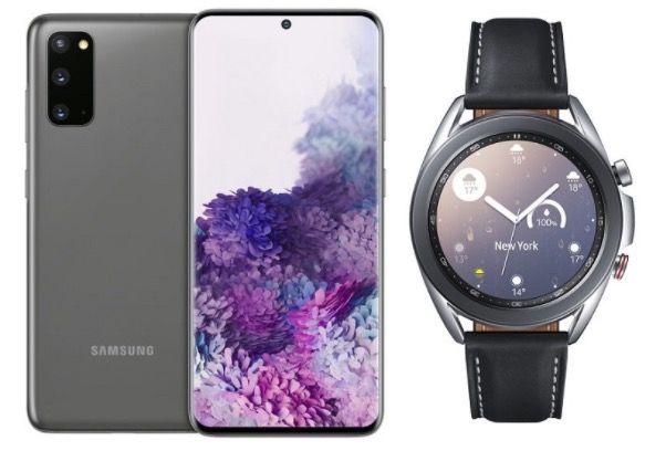 Samsung Galaxy S20 + Galaxy Watch 3 LTE für 129€ + o2 mit 40GB LTE für je 34,99€ mtl.