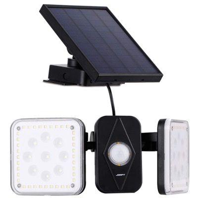 Jorft Doppelkopf Solarlampe mit 94 LEDs und Bewegungsmelder für 20 Stunden für 18,59€ (statt 32€)