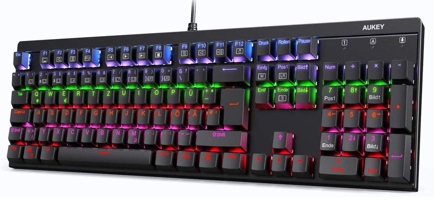 AUKEY mechanische Gaming LED Tastatur für 39,99€