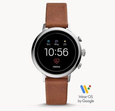 Fossil Q Venture HR Damen Smartwatch mit braunem Leder Armband für 99€(statt 149€)