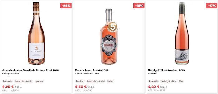BlackFreitag: 20€ Rabatt im REWE Weinshop Weinfreunde   ab MBW 99€