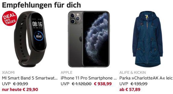 OTTO: 13€ personalisierter Gutschein ab 29€ MBW   z.B. Xiaomi Mi Band 5 ab 16,90€ (statt 33€)