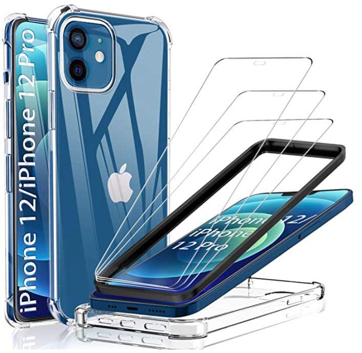 iPhone 12 (Pro) Hülle inkl. 3x Panzerglas für 3,95€ (statt 9€)   Prime