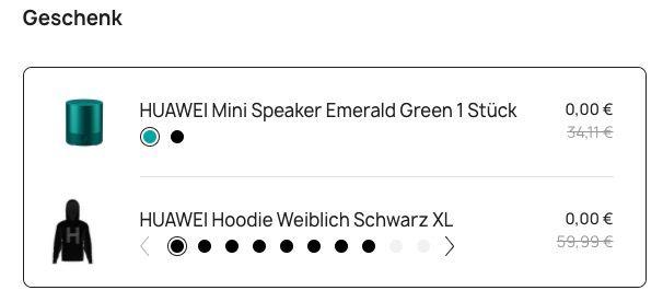 Abgelaufen! Huawei Watch GT + CM510 Mini Speaker + Hoodie für 64€ (statt 107€)