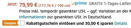 Blusmart Vakuumierer mit eingebauter Küchenwaage und LCD Display für 49,99€ (statt 80€)