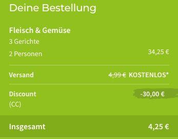 Wichtiges Update! HelloFresh Kochbox für 2 Personen mit 3 Gerichten für nur 4,25€   Neukunden