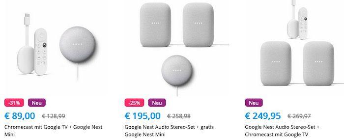 Tink Smart Aktion (+ 6 Mon. Spotify geschenkt)  z.B. Sonos One Stereo Set + Google TV für 399€ (statt 449€)
