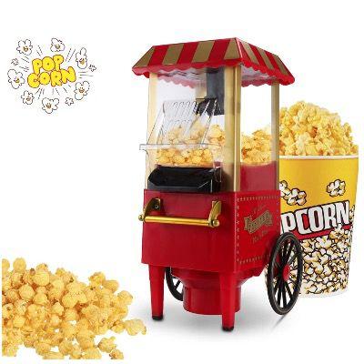 Hengda Retro Popcornmaschine 1200W für fettfreies Popcorn für 20,29€ (statt 29€)
