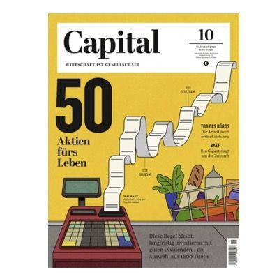 Jahresabo der Finanz Zeitschrift CAPITAL für 96,80€   Prämie BestChoice Gutschein über 80€