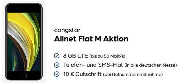 Apple iPhone SE (2020) 128GB für 89,95€ mit Telekom Flat von Congstar mit 8GB LTE für 20€ mtl.