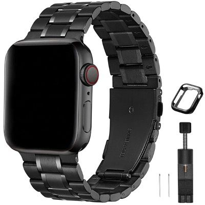 HEKAI Edelstahl Uhr-Armbänder kompatibel zu Apple Watch z.B. 10,91€ (statt 26€)