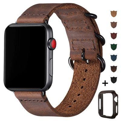 BesBand Retro-Lederbänder für die Apple Watch 38mm bis 44mm ab 5,69€ (statt 19€)