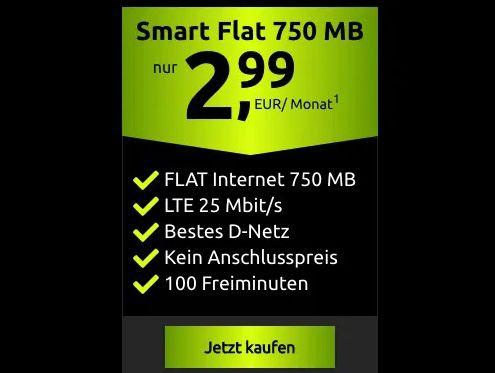 🔥 Telekom Tarif mit 100 Minuten + 750MB LTE für 2,99€ mtl.   eSIM, VoLTE & WiFi Call möglich!