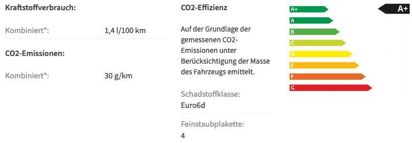 Gewerbe: Audi A3 Sportback 40 TFSIe S tronic Hybrid mit 204 PS in Brillantschwarz für 89€ netto mtl.   LF 0,39
