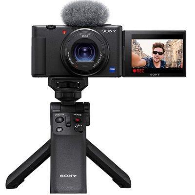 SONY Vlog-Kompaktkamera ZV-1 (20,1 MP, Wi-Fi, Bluetooth) inkl. Bluetooth-Handgriff für 649€ (statt 706€)