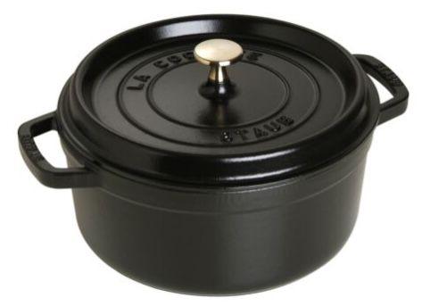 Staub Cocotte Gusseisen Bratentopf 24cm rund in Schwarz für 123€ (statt 153€)
