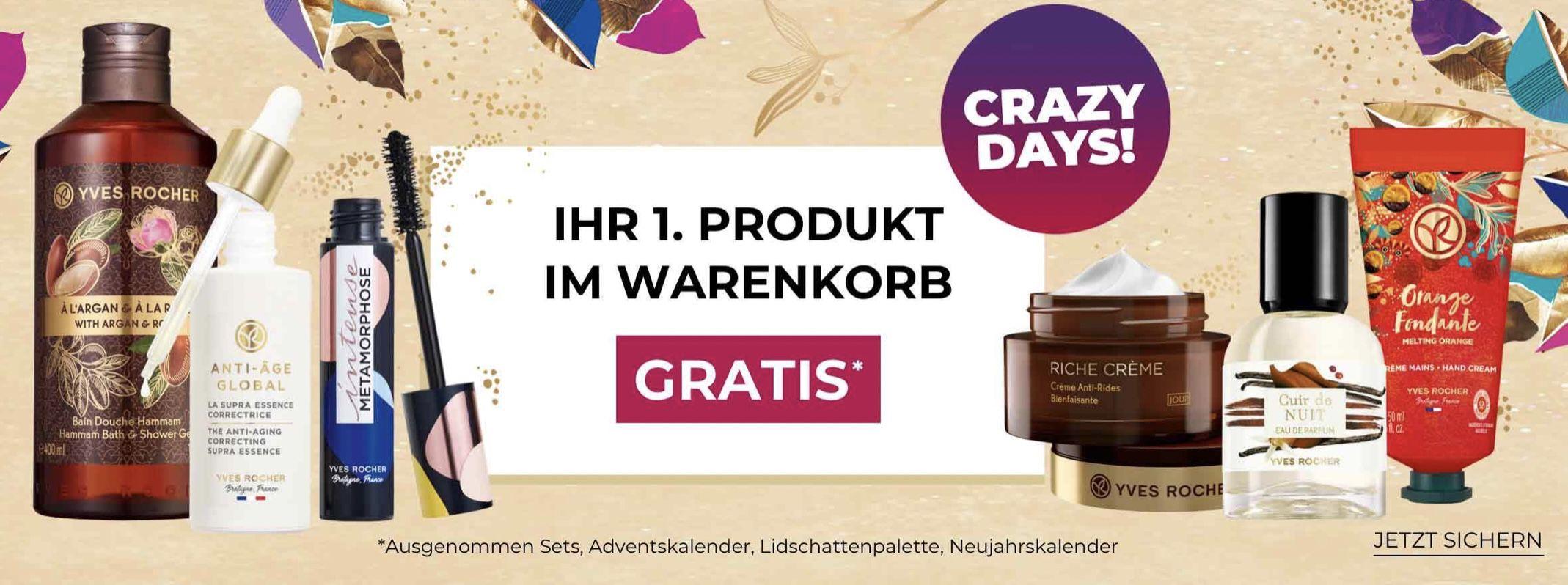 Yves Rocher Crazy Deals: 1. Artikel Gratis ab 10€ MBW + VSK frei ab 20€