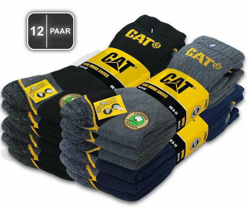 CAT CATERPILLAR Herren Arbeits Socken 12er Pack für 29,50€ (statt 34€)