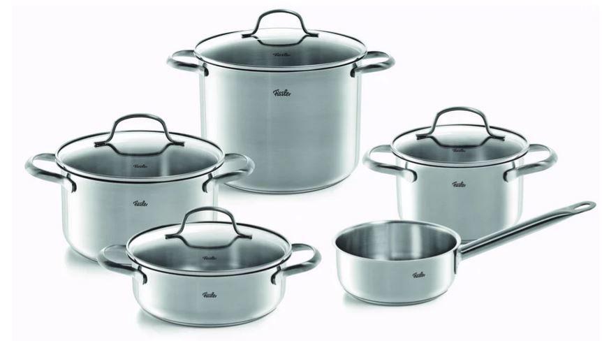 Fissler Toronto   5teiles Edelstahl Kochtopfset für 82,34€ (statt 111€)