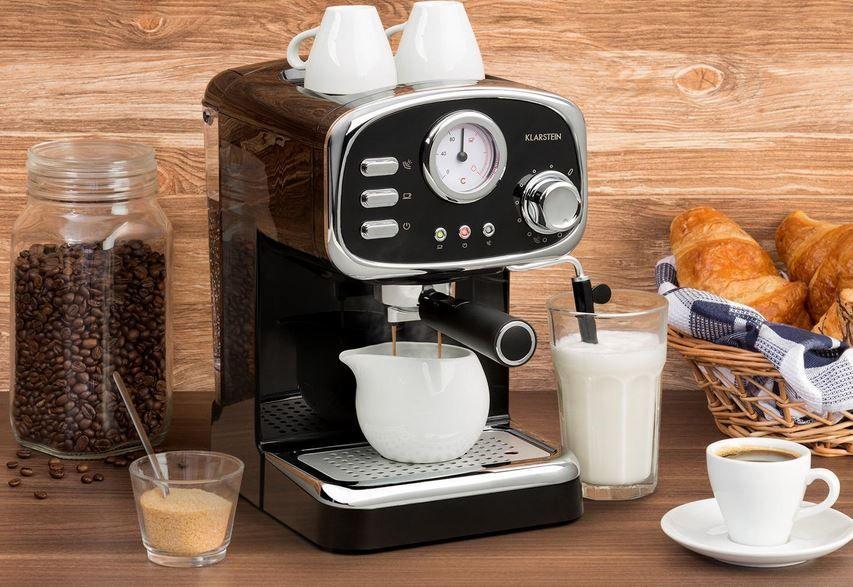Klarstein Espressionata Gusto Siebträger Espressomaschine für 70,99€ (statt 90€)