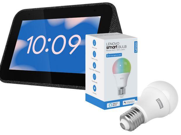 Lenovo Smart Clock + der Lenovo Smart Bulb für 48,73€ (statt 95€)