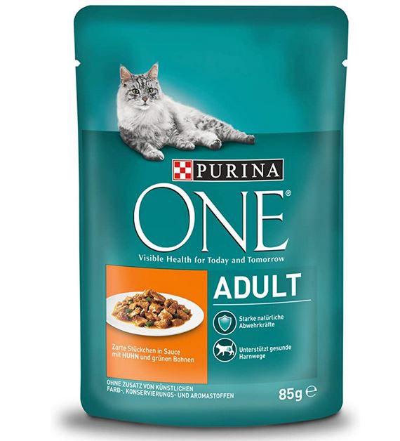 4 für 3 Haustier Aktion bei Amazon – z.B. PURINA ONE Adult Katzenfutter 4er/24er Pack für 26,37€ (statt 52€)