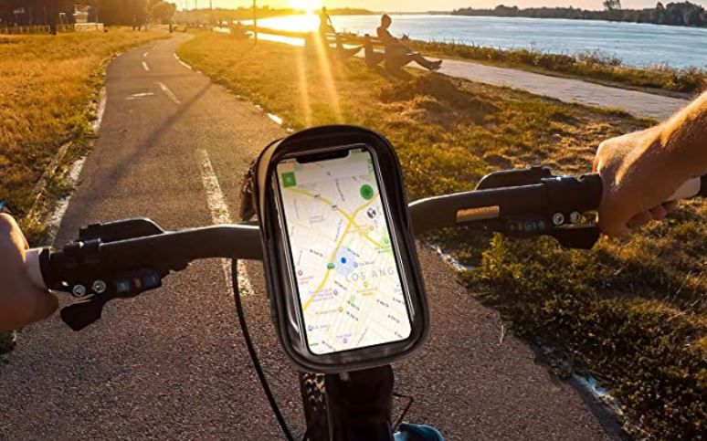 Pezimu   Fahrrad  u. Motorrad Handyhalterung für 8,98€ (statt 13€)   Prime