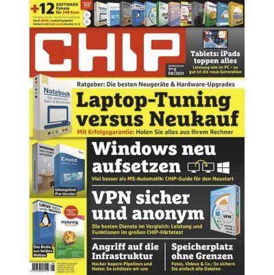 Chip Plus im Jahres Abo mit 12 Ausgaben für nur 34,95€ (statt 95€)