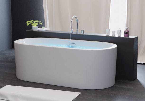 Freistehende Acryl Badewanne 168x80cm für 399€ (statt 469€)