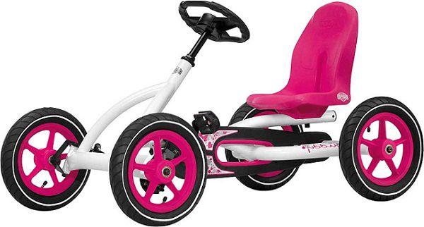 BERG Pedal Go Kart Buddy Pink weiß Sondermodell für 214,99€ (statt 252€) + 15,40€ in Babypunkte