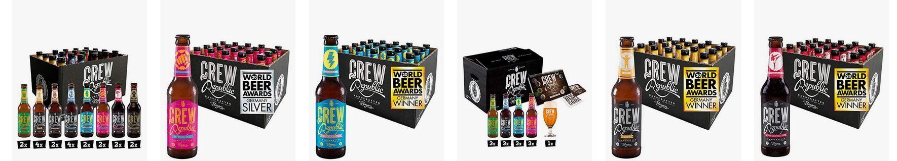 Crew Republic Craft Beer mit Prime ohne Versandkosten   z.B. 20 x 0,33L Bier Mix für 27,99€(statt 39€)