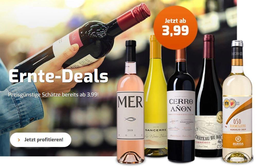 Weinvorteil Ernte Deals mit 10€ extra Rabatt auf ausgewählte Weine z.B. 6 Flaschen Casa Safra Gran Reserva ab 25,84€
