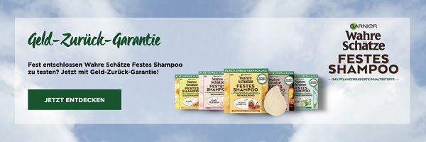 Garnier Wahre Schätze festes Shampoo kostenlos ausprobieren