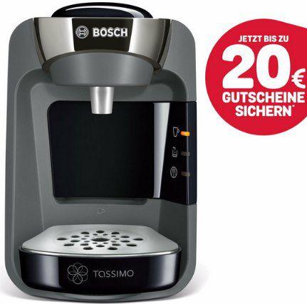 BOSCH Kapselmaschine Tassimo Suny + 20€ Kapselgutschein für 34,99€ (statt 47€) – B-Ware