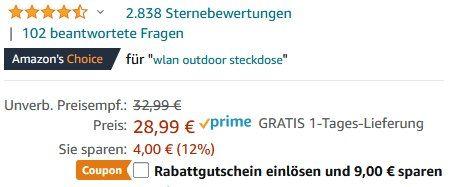 Teckin SS42 WLAN Außensteckdose mit App Anbindung für 19,99€ (statt 29€)