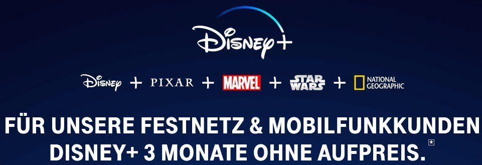 3 Monate Disney+ gratis für Telekom Kunden   danach 5€ statt 6,99€ mtl.
