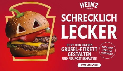 Kostenlos: Personlisiertes Grusel Etikett von Heinz Tomato Ketchup