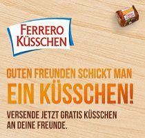 Gratis: Ferrero Küsschen Grußbox versenden