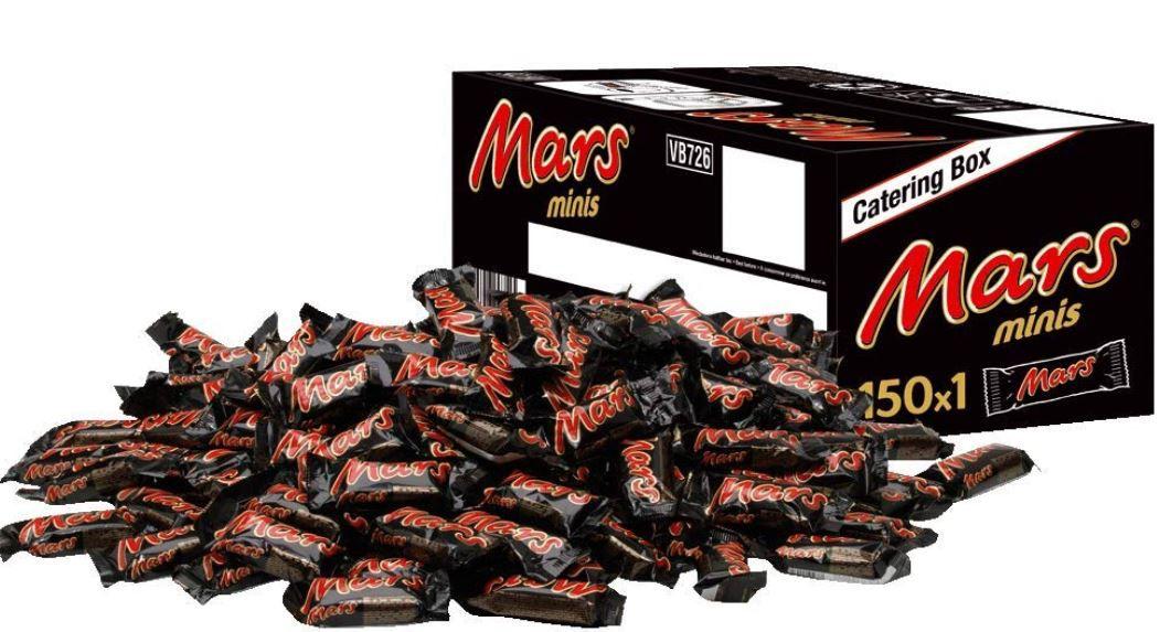 Mars Schokoriegel 150 Stück (18g) Box 2,7kg ab 16,62€ (statt 26€)