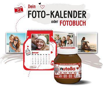 Mit dem Kauf von Nutella Foto Kalender oder Foto Buch gratis abstauben