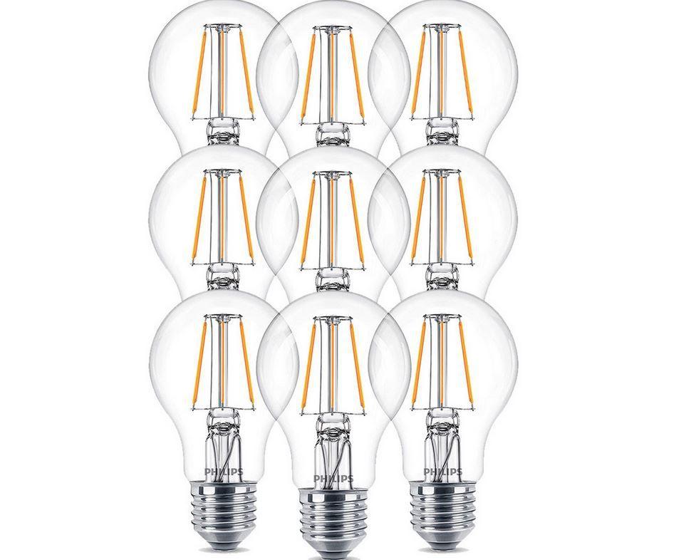 9x Philips LED E27 Vintage Leuchtmittel mit je 4,3 W für 18,90€ (statt 36€)