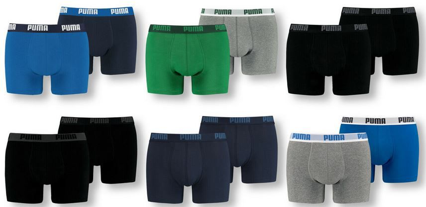 Puma Herren Basic Trunk 6er Pack Boxershorts für 34,39€ (statt 45€)