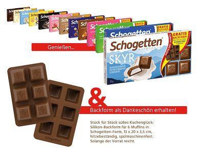 Kostenlos: Muffins Backform beim Kauf von Schogetten Schokolade
