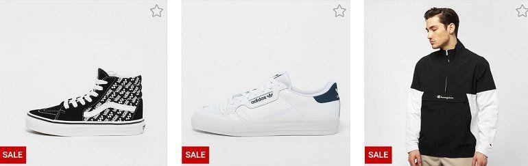 Snipes Sale mit bis zu 50% + 20% Extra  günstige Marken Sport Fashion