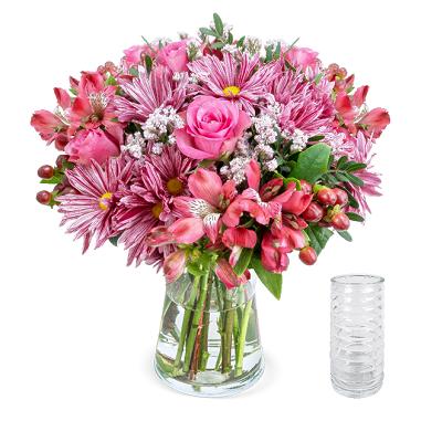 Blumenstrauß Süße Grüße inkl. Vase für 28,78€