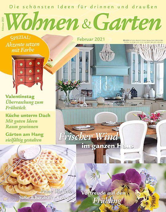 6 Ausgaben Wohnen & Garten für 24,90€ + 15€ Verrechnungsscheck