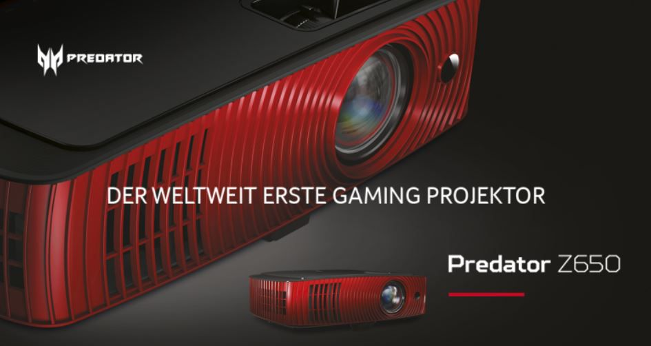 Acer Predator Z650   Kurzdistanz FullHD Beamer für 657,64€ (statt 760€)
