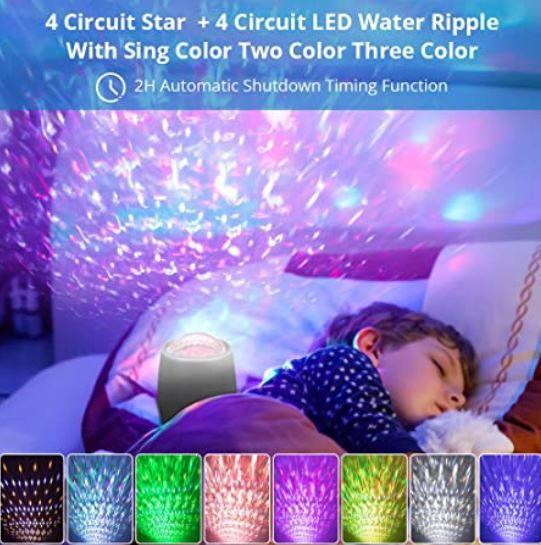 Sternenhimmel Projektor mit Einschlaf Musik für 25,29€ (statt 46€)