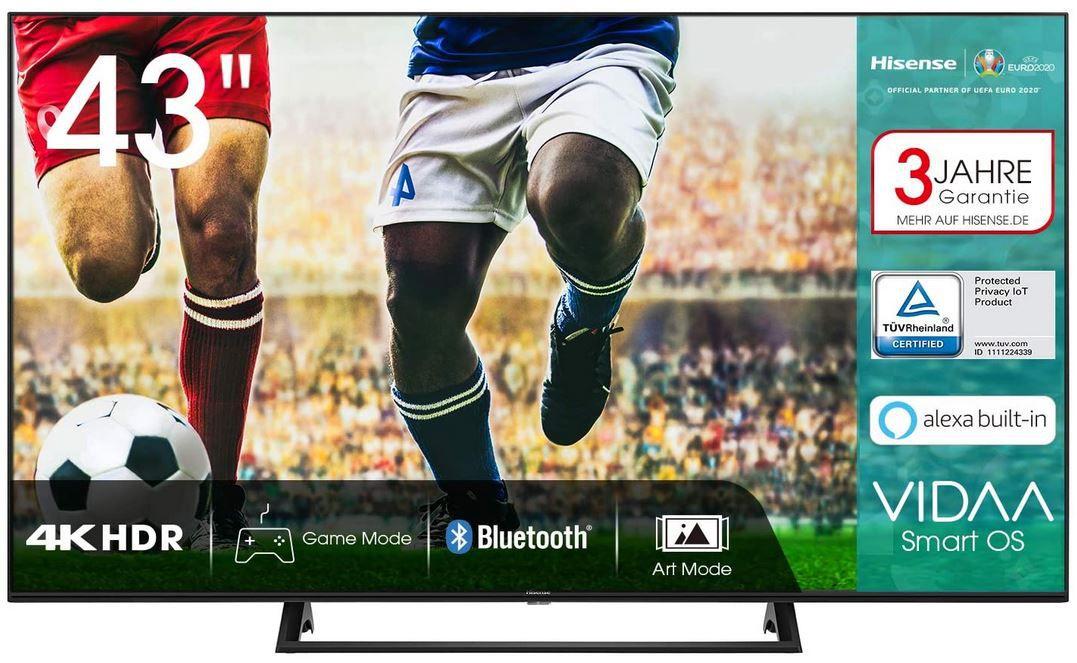 Hisense 43AE7200F   43 Zoll UHD Fernseher für 289,80€ (statt 317€)